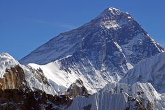 Parte superiore del mondo Everest 8848 Fotografie Stock Libere da Diritti