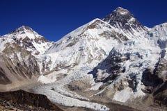 Parte superiore del mondo Everest 8848m Fotografia Stock