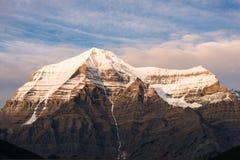 Parte superiore del Mt Robson, Columbia Britannica, Canada Immagini Stock Libere da Diritti