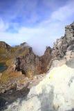 Parte superiore del Mt Yakedake, alpi del nord, Nagano, Giappone Fotografia Stock