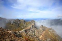 Parte superiore del Mt Yakedake, alpi del nord, Nagano, Giappone Immagine Stock Libera da Diritti