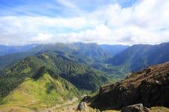 Parte superiore del Mt Yakedake, alpi del nord, Nagano, Giappone Fotografie Stock Libere da Diritti