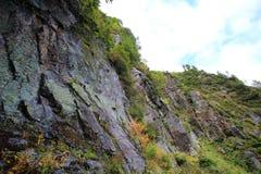 Parte superiore del Mt Yakedake, alpi del nord, Nagano, Giappone Immagini Stock Libere da Diritti