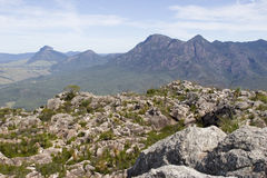 Parte superiore del paesaggio marrone rossiccio di Mt Fotografia Stock