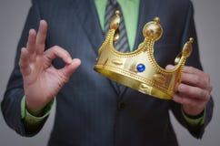 Parte superiore dell'oro coronation Fotografie Stock Libere da Diritti