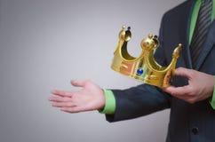 Parte superiore dell'oro coronation Immagini Stock Libere da Diritti