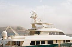 Parte superiore dell'yacht di lusso Fotografia Stock