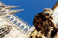 Parte superiore della cattedrale di Milano Immagine Stock Libera da Diritti