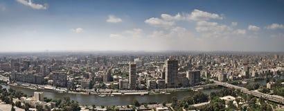 Parte superiore della città di Cairo dalla torretta della TV Fotografia Stock