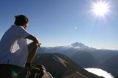 Parte superiore della montagna Fotografie Stock Libere da Diritti