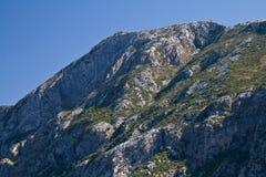 Parte superiore della montagna, baia del Kotors, Montenegro Immagini Stock Libere da Diritti