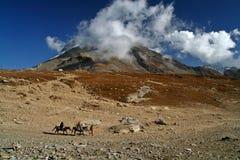 Parte superiore della montagna dell'Himalaya fotografia stock libera da diritti