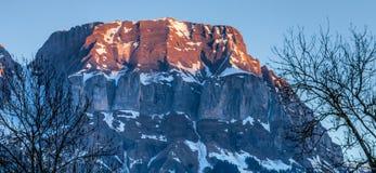 Parte superiore della montagna dell'intervallo di Aravis, Francia II Fotografia Stock