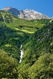 Parte superiore della neve della montagna di Grossglockner in alpi Fotografie Stock