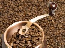 Parte superiore della smerigliatrice di caffè immagini stock libere da diritti