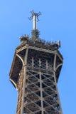 Parte superiore della Torre Eiffel Immagine Stock