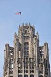 Parte superiore della torretta del Chicago Tribune fotografia stock