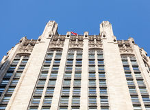 Parte superiore della torretta del Chicago Tribune Immagine Stock Libera da Diritti