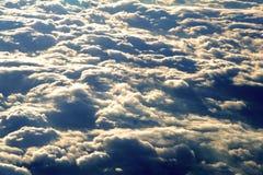 Parte superiore delle nubi Fotografia Stock