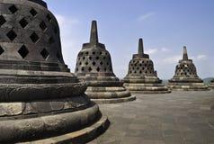 Parte superiore di Borobudur Immagini Stock Libere da Diritti