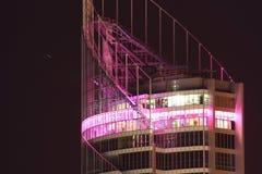 Parte superiore di costruzione Q1 alla notte Fotografia Stock Libera da Diritti