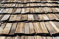Parte superiore di legno del tetto Immagini Stock Libere da Diritti