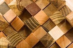 Parte superiore di legno di puzzle Immagini Stock