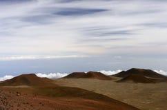 Parte superiore di Mauna Kea Hawai Fotografie Stock