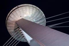 Parte superiore di nuovo ponticello a Bratislava Fotografie Stock