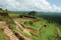 Parte superiore di Sigiriya - roccia del leone in Sri Lanka Fotografia Stock