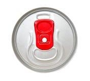 Parte superiore di un colore rosso apri di latta Fotografia Stock Libera da Diritti