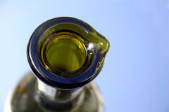 Parte superiore verde della bottiglia Fotografia Stock