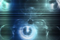 Parte traseira abstrata creativa na moda do papel de parede dos tons azuis Fotografia de Stock