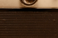 Parte traseira da câmera do filme Opinião do Close-up Macro Foto do vintage imagem de stock