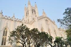 Parte traseira da catedral do St. Paul, Calcutá foto de stock