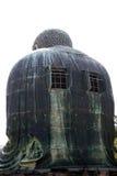 A parte traseira da grande Buda de Kamamura imagens de stock royalty free
