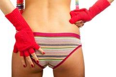 Parte traseira da menina da beleza nas calças Fotos de Stock Royalty Free