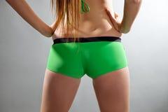 Parte traseira da mulher com mão Fotografia de Stock Royalty Free