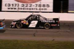 Parte traseira da noite da série ORP do caminhão de Shelby Howard 2 NASCAR Imagens de Stock Royalty Free
