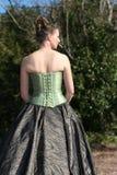Parte traseira da noiva, com flor Imagens de Stock