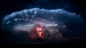 Parte traseira da tempestade Imagem de Stock