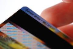 Parte traseira de cartão do crédito Imagem de Stock
