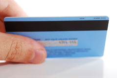Parte traseira de cartão do crédito Foto de Stock Royalty Free