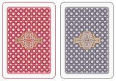 Parte traseira de cartões do jogo Fotos de Stock Royalty Free