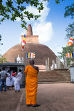 A parte traseira de Rankoth Vehera, budista o maior fotografia de stock