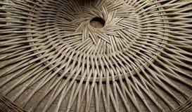 A parte traseira de um recipiente tecido de bambu Foto de Stock Royalty Free