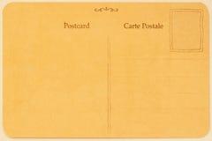 Parte traseira do cartão do vintage Espaço em branco de Grunge Textura (de papel) enrugada Com lugar seu texto, uso do fundo conc imagem de stock