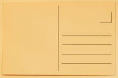 Parte traseira do cartão do vintage para colocar mensagens e endereços Textura de papel, fundo Conceito que recolhe como o passat Imagens de Stock Royalty Free