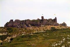Parte traseira do castelo do cruzado de Beaufort, província de Nabatieh, Líbano Imagem de Stock Royalty Free