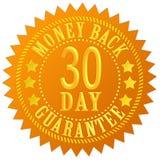 parte traseira do dinheiro de 30 dias ilustração stock